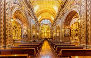 Vẻ lộng lẫy của nhà thờ được dát 7 tấn vàng